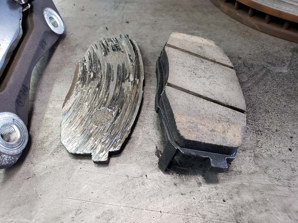 Brake Pad Replacement General Brake Pad Worn Out