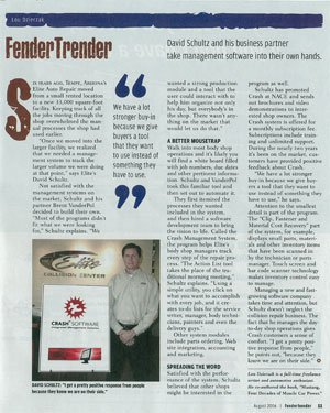 Elite Auto Repair Article In Fender Bender