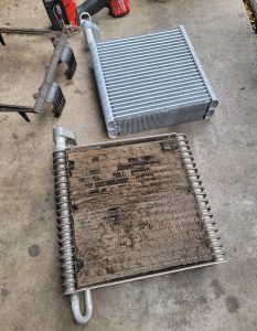 Old and New Evaporator Core