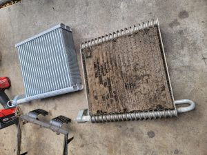 Old and New Evaporator Cores